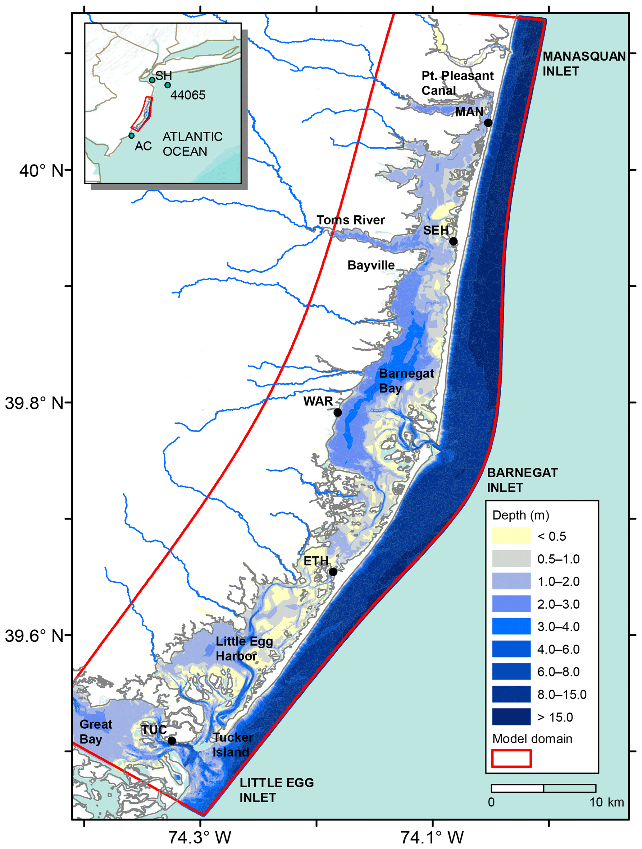 NHESS - Spatial distribution of water level impacting back