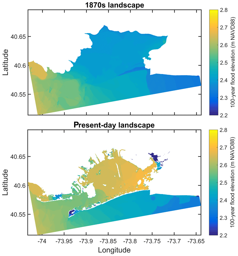 Nhess Storm Tide Amplification And Habitat Changes Due To Urbanization Of A Lagoonal Estuary
